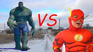 Flash vs Hulk Superheroes Epic Battle