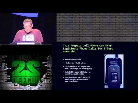 DEF CON 22 - Weston Hecker - Burner Phone DDOS 2 dollars a day : 70 Calls a Minute