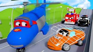 Persiguiendo a Tyler el Coche de Carreras Malo - Carl el Super Camión en Auto City