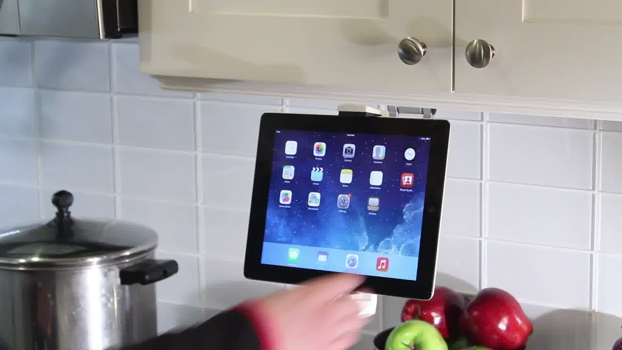 2 In 1 Kitchen Mount Stand For Ipad Amp Tablets Youtube