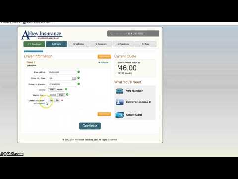 Abbey Insurance - How To Quote and Buy Car Insurance online