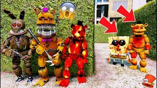 WILL THE ANIMATRONICS ESCAPE SPONGEBOB.EXE & FREDDDY.EXE? (GTA 5 Mods For Kids FNAF RedHatter)