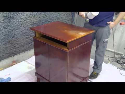 Переделка шкафа методом лессировки, + городецкая роспись.