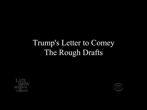 Trump's Letter To Comey: The Rough Drafts