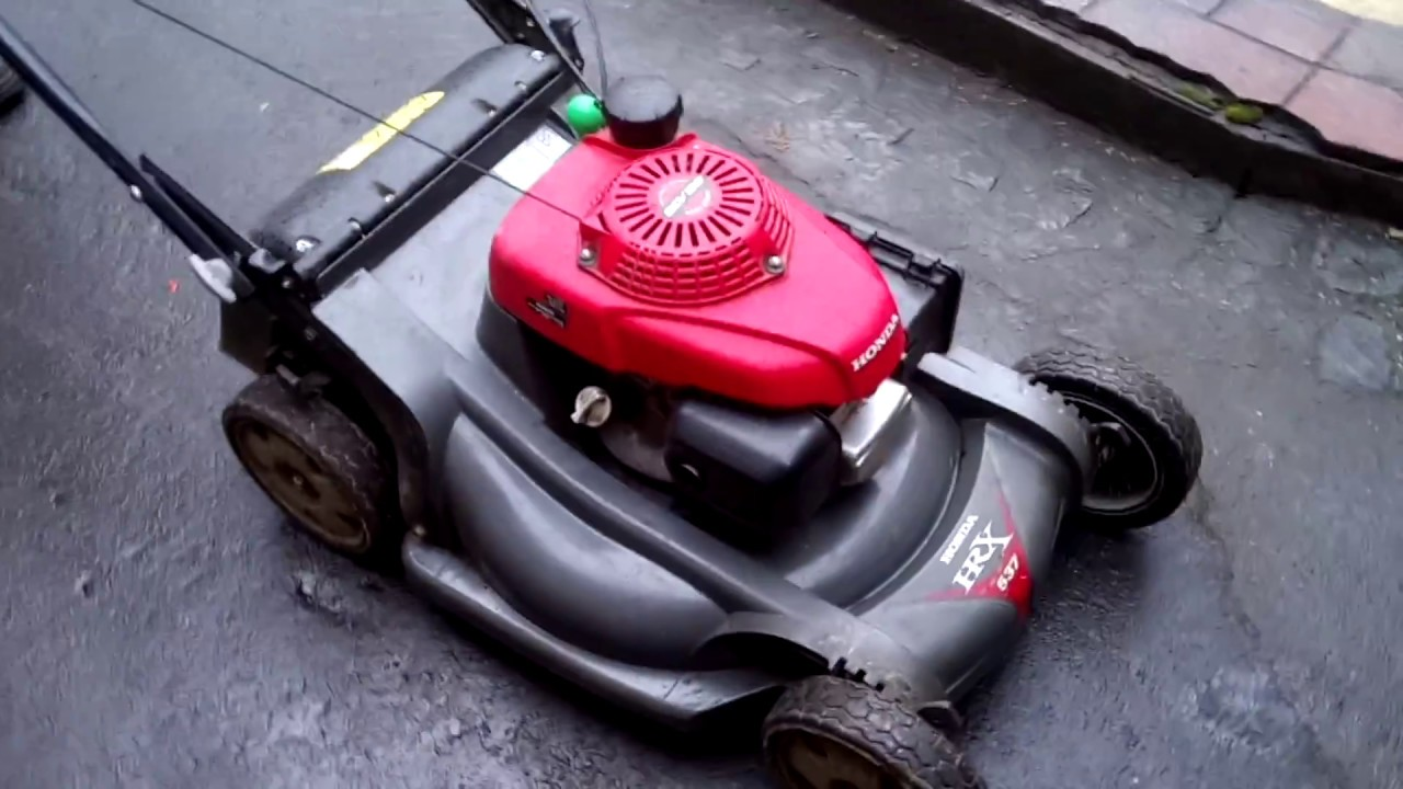 lawn mover honda hrx 537 test - youtube