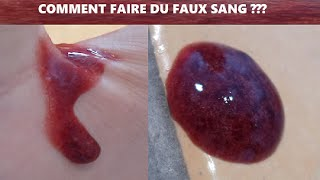 comment faire du faux sang