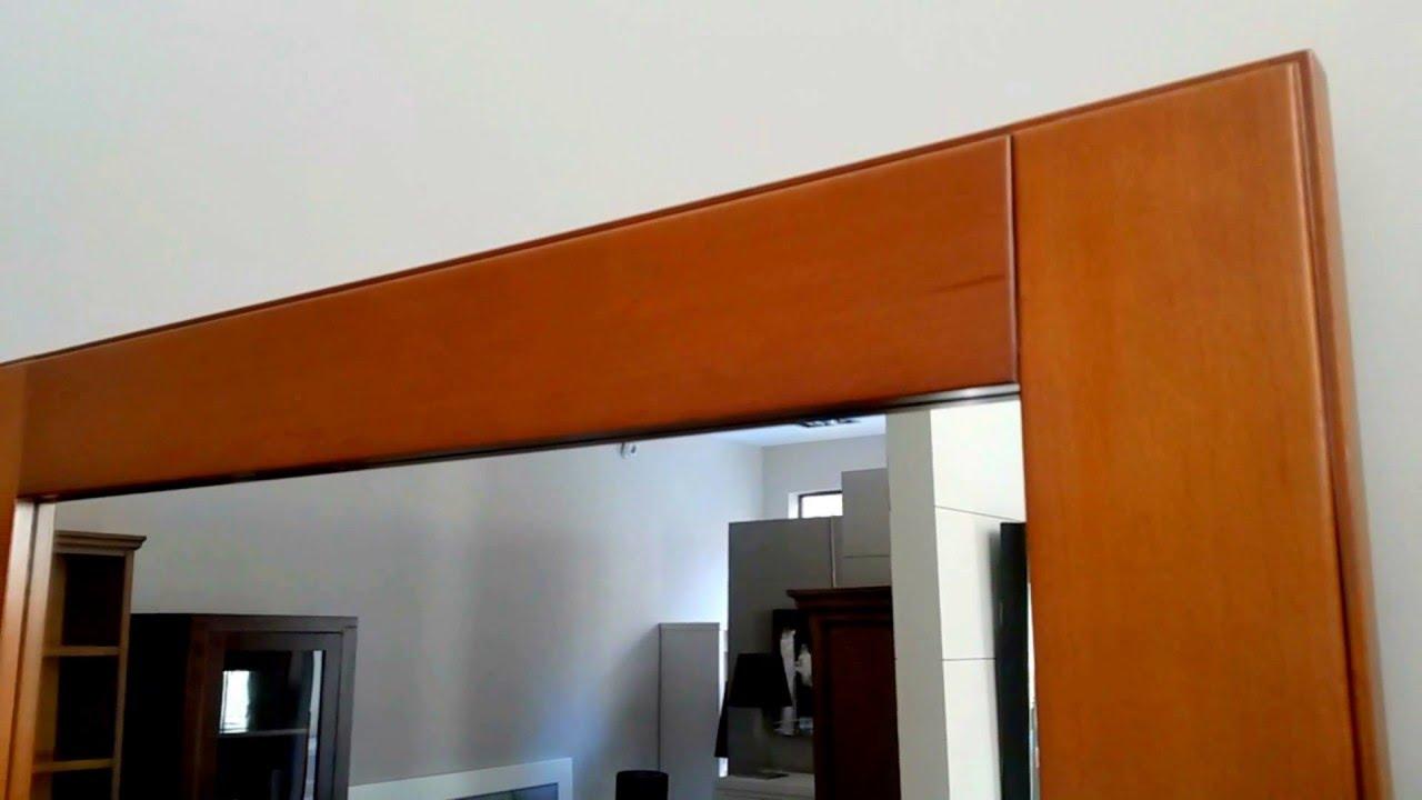 marco de espejo para dormitorio madera haya