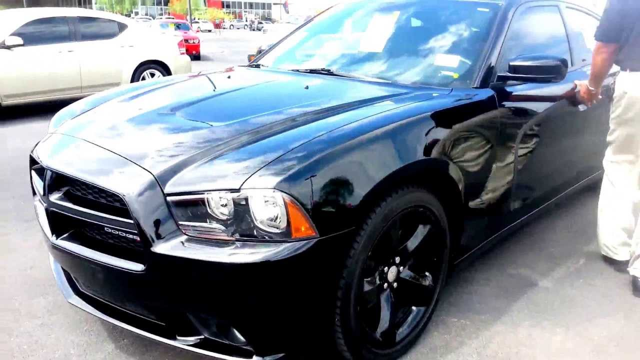 2012 Dodge Charger Blacktop Edition Carfax 1 Owner Super Low Miles Loaded With Leathermoonroof