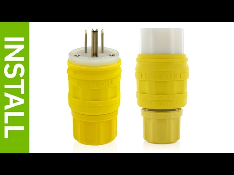 How to Install Leviton Wetguard Watertight Plugs and Connectors