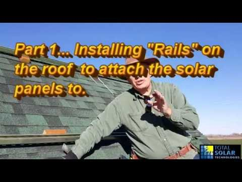 DIY Cheap Solar Panel Install On roof
