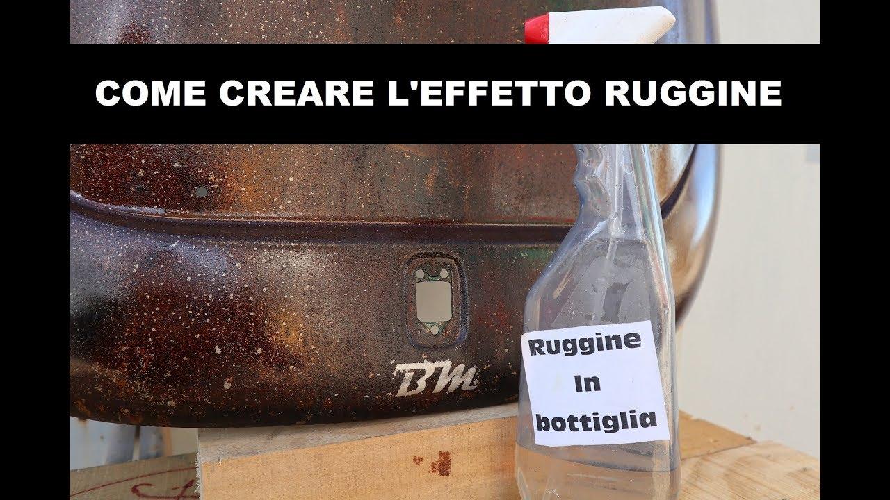 COME CREARE L' EFFETTO RUGGINE / RAT STYLE - YouTube