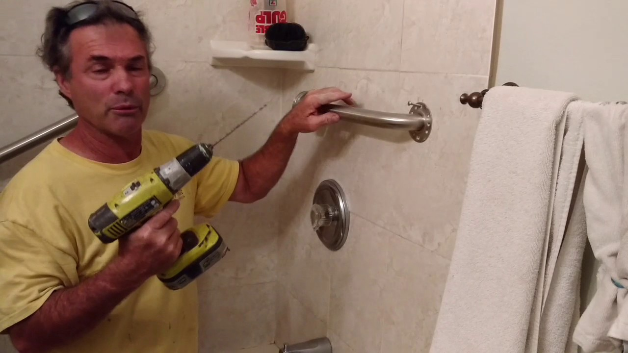 Shower Grab Bars Easy to Install - YouTube