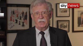 Trump's former adviser John Bolton says White House 'in a panic' after President gets coronavirus