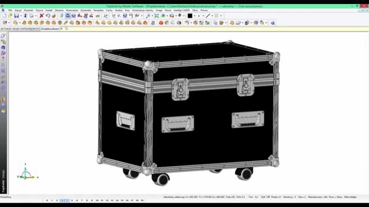 tips tricks topsolid wood projektowanie skrzyni transportowej youtube. Black Bedroom Furniture Sets. Home Design Ideas