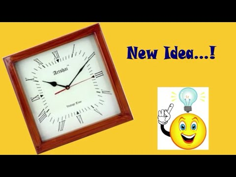 Best out of waste Craft Ideas from Old Wall Clock. DIY Decorative Clock from K.K. Craft