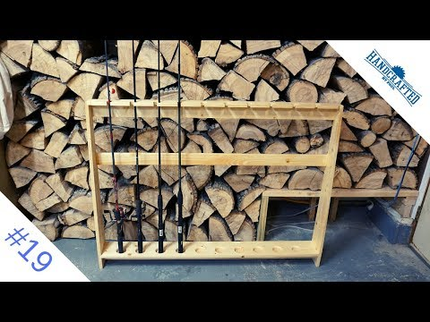 Simple Fishing Pole Rack From Pine Ep. 19