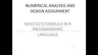 weddle's formula in R programming language