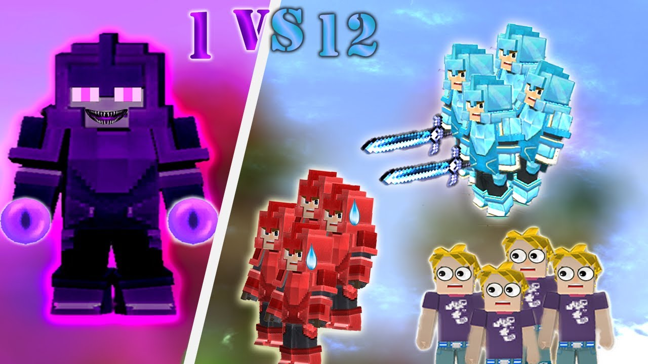 Download 1 ENDERMAN vs 3 BEDWARS SQUAD | Blockman Go Gameplay (Android , iOS)