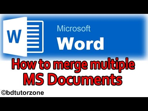 How To Merge Multiple Word Documents Into One || Now Solved It !