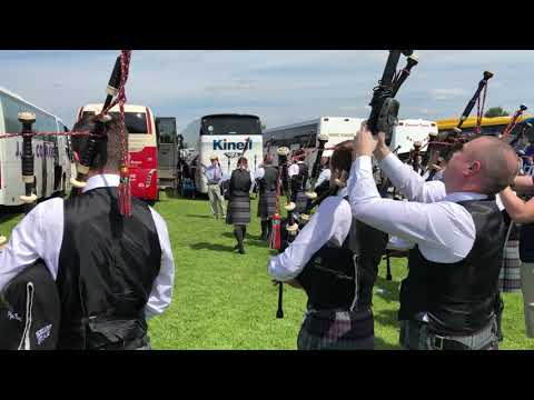 [HD] Scottish Power Pipe Band - 2018 British Champions - Pipers tuning session
