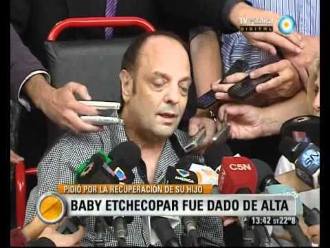 Visi�n Siete: Etchecopar de alta, abandon� el hospital y pidi� que recen por su hijo