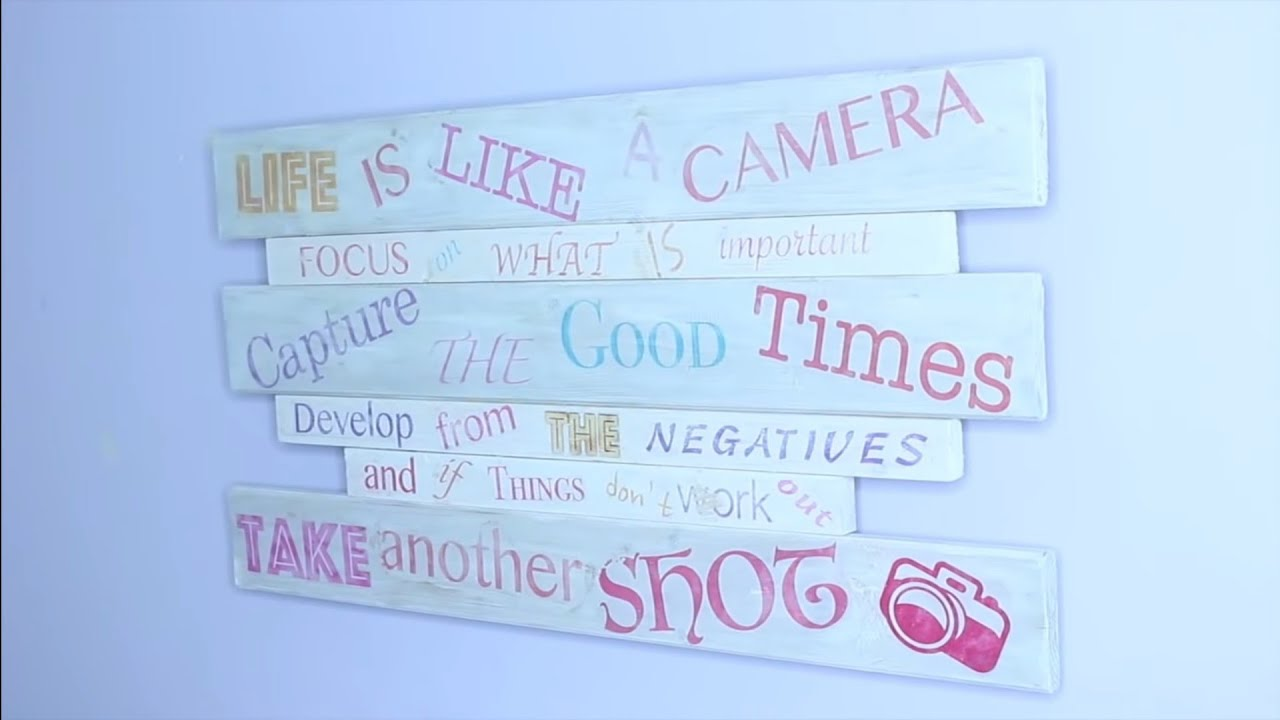 diy wandbild holzschild selbst gestalten beschriften foto transfer potch papier schrift auf. Black Bedroom Furniture Sets. Home Design Ideas