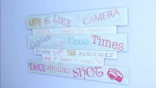 DIY Wandbild/Holzschild selbst gestalten/beschriften Foto Transfer Potch Papier, Schrift auf Holz
