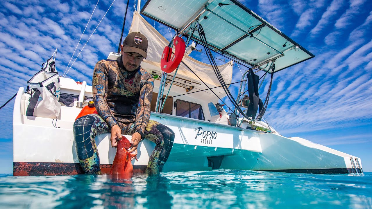 Living the Island life - Spearfishing & Exploring Great Keppel Island (Sailing Popao) Ep.43