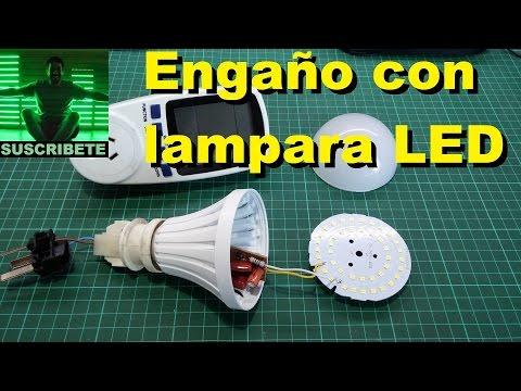 Mentira con lampara led china, LED lamp SCAM