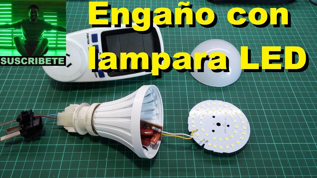 mentira con lampara led china led lamp scam youtube. Black Bedroom Furniture Sets. Home Design Ideas