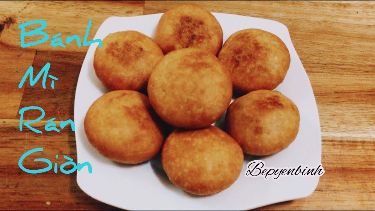 Cách làm bánh bột mì chiên đơn giản ngon/ bánh bột mì rán/ bếp yên bình