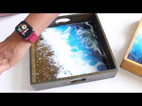 Resin Art | Easy Tea Tray for beginners | DebsLilArts