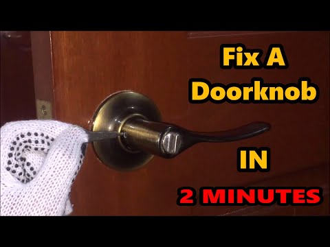Fix A Doorknob IN 2 MINUTES!