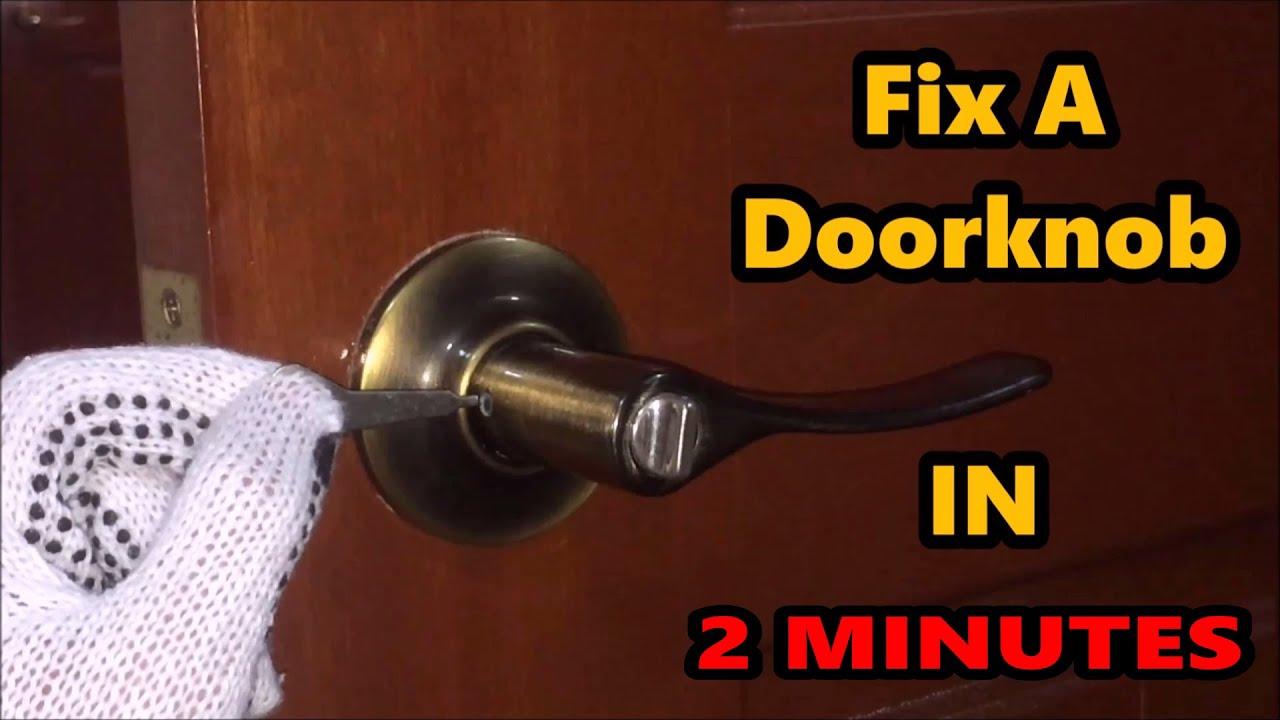 Fix A Doorknob IN 2 MINUTES! - YouTube