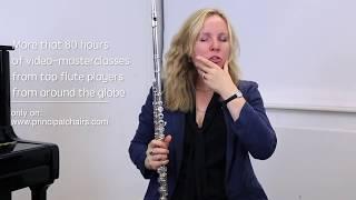 Видео урок Лорны МакГни, первой флейтой симфонического оркестра Питсбурга (США)