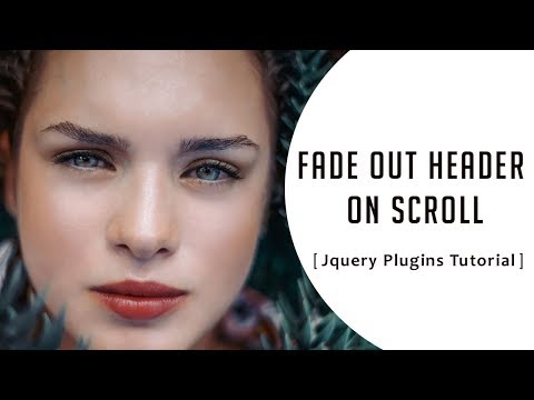 Fade Out Header on Scroll with jquery | fade out hero header on scroll | Jquery Plugins Tutorial thumbnail