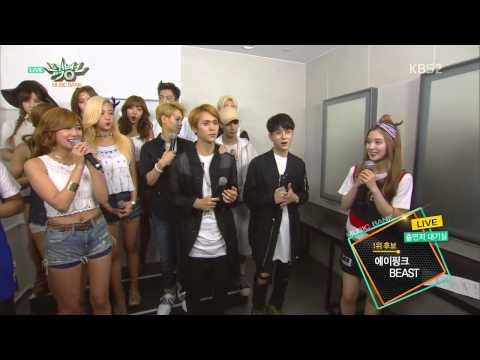 150807 Apink (에이핑크) & BEAST (비스트) - Interview @ 뮤직뱅크 Music Bank