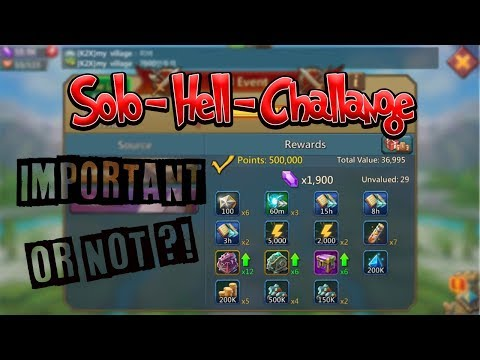 Lords Mobile - Tutorials - SOLO/HELL/CHALLANGE EVENT WORTH???