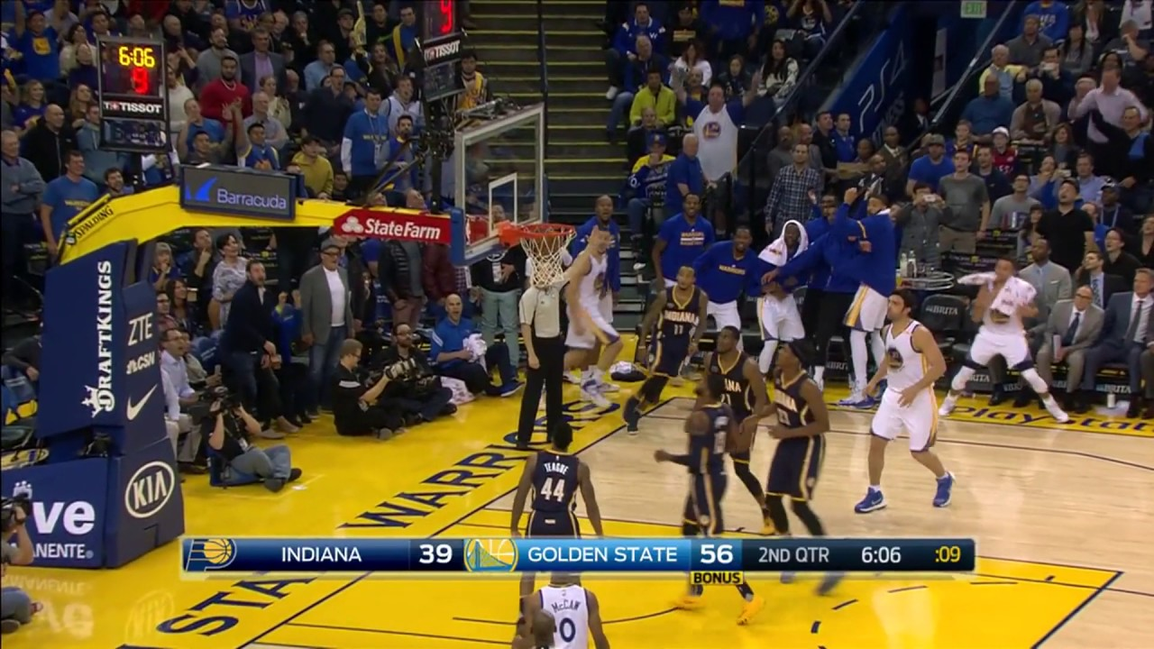 Klay Thompson 60 PTS, 2 REB, 1 AST Warriors vs Pacers 12/5 ...