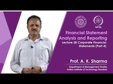 Lecture-28- Corporate Financial Statements (Part-4)