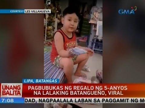 UB: Pagbubukas ng regalo ng 5-anyos na lalaking Batangueño, viral