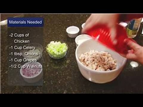 Salad Recipes : Chicken Salad Recipe With Grapes & Walnuts