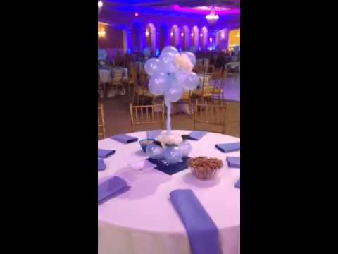 Baby boy 39 s birthday party balloon decorations youtube for Balloon decoration ideas youtube