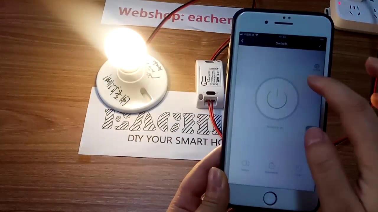 EACHEN WIFI+433RF SWITCH AC 10A USING TUYA SMARTLIFE APP