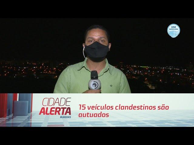 15 veículos clandestinos são autuados e removidos em Maceió