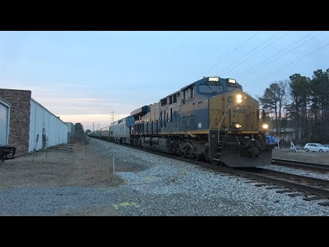 CSX, AMTRAK, & Norfolk Southern Trains in Virginia - February 2019
