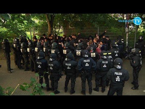 Polit-Demonstrationen in Stade