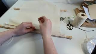 Rotating Frame - how to attach fabric to an embroidery frame