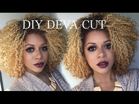 hair cutting style diy deva cut amp trim how to cut curly hair 2390 | hqdefault