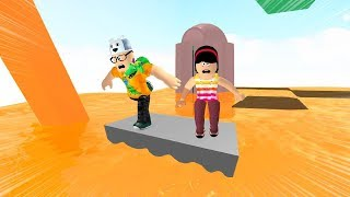 ROBLOX: MY MOTHER AND I IN: THE LAST ONE TO LEAVE THE LAVA WINS! -Play Old man